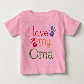 Amo mi regalo Handprints de Oma Playera Para Bebé