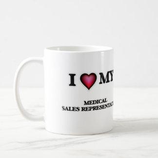 Amo mi representante de ventas médico taza clásica