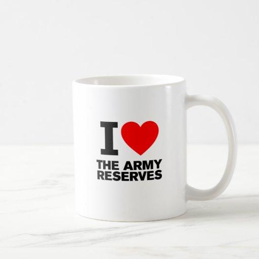 Amo mi reserva del ejército taza básica blanca