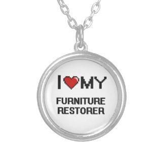 Amo mi restaurador de los muebles colgante redondo