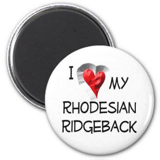 Amo mi Rhodesian Ridgeback Imán Redondo 5 Cm