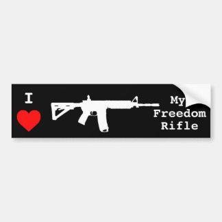 Amo mi rifle de la libertad pegatina para auto