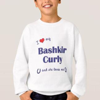 Amo mi rizado bashkir (el caballo femenino) sudadera