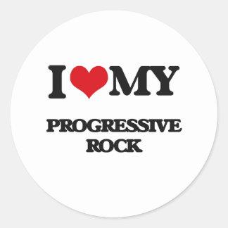 Amo mi ROCK PROGRESIVO Etiquetas Redondas