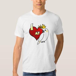 Amo mi ropa cítrica del Cockatoo Camisas