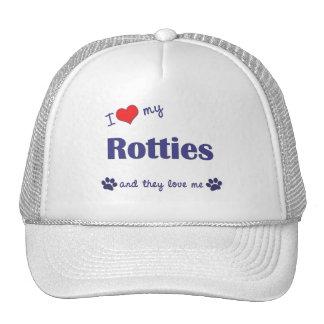 Amo mi Rotties (los perros múltiples) Gorra