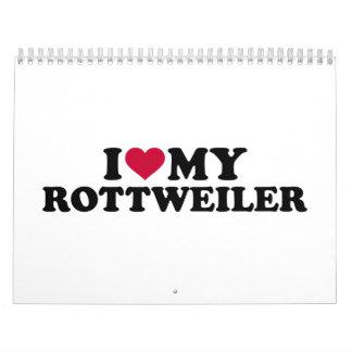 Amo mi Rottweiler Calendarios