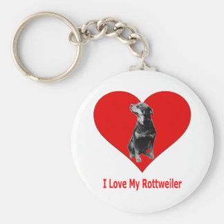 Amo mi Rottweiler Llavero Personalizado