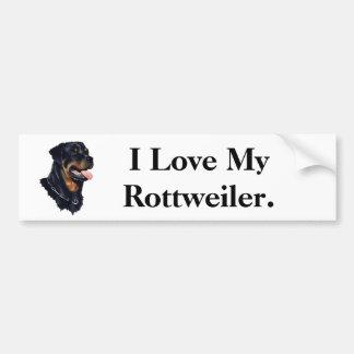 Amo mi Rottweiler Pegatina Para Auto