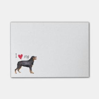 Amo mi Rottweiler Post-it® Nota