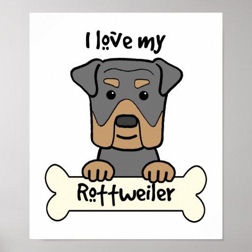 Amo mi Rottweiler Póster