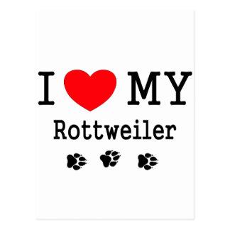 Amo mi Rottweiler Tarjetas Postales