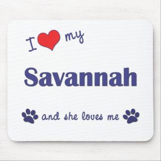 Amo mi sabana (el gato femenino) mousepad