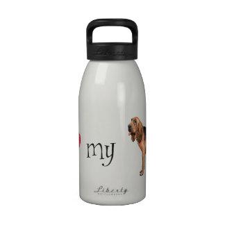 Amo mi sabueso botella de agua reutilizable