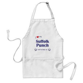 Amo mi sacador de Suffolk (el caballo masculino) Delantal