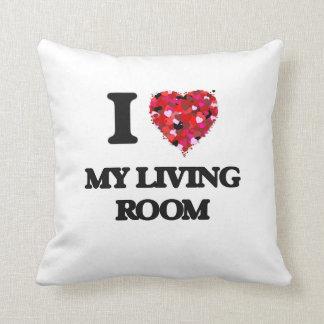 Amo mi sala de estar cojines