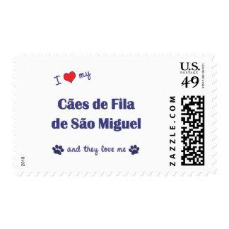 Amo mi sao Miguel (los perros multi) de Caes de Sello Postal