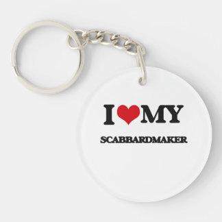 Amo mi Scabbardmaker Llavero Redondo Acrílico A Una Cara