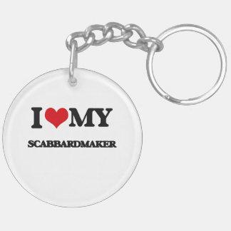 Amo mi Scabbardmaker Llavero Redondo Acrílico A Doble Cara