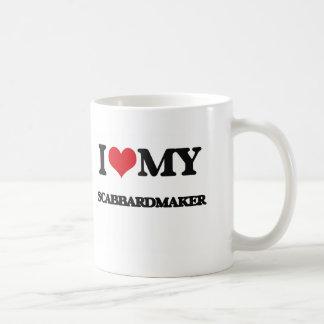 Amo mi Scabbardmaker Taza Básica Blanca