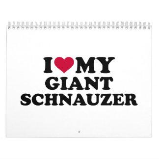 Amo mi Schnauzer gigante Calendarios De Pared