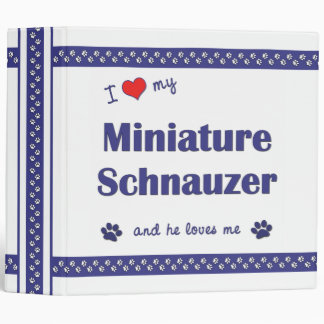 "Amo mi Schnauzer miniatura (el perro masculino) Carpeta 2"""