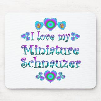 Amo mi Schnauzer miniatura Tapetes De Ratón