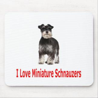 Amo mi Schnauzer miniatura Alfombrillas De Ratones
