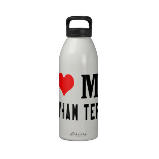 Amo mi Sealyham Terrier Botellas De Agua Reutilizables