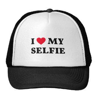 Amo mi selfie, arte de la palabra, diseño del gorras