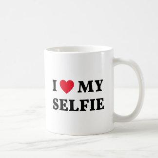 Amo mi selfie, arte de la palabra, diseño del taza de café