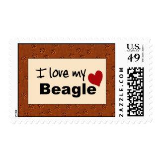 Amo mi sello del beagle
