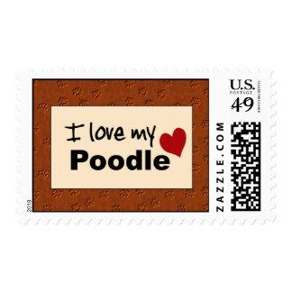 Amo mi sello del caniche