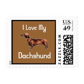 Amo mi sello del perrito del Dachshund