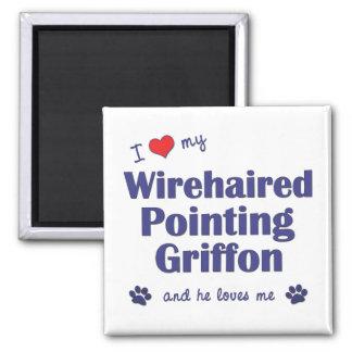 Amo mi señalar Griffon Wirehaired el perro mascul Imán De Frigorífico