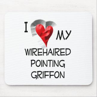 Amo mi señalar Griffon Wirehaired Mousepads