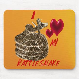 Amo mi serpiente de cascabel Mousepad