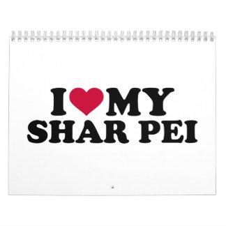 Amo mi Shar Pei Calendarios De Pared
