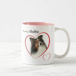 Amo mi Sheltie #2 Taza De Dos Tonos