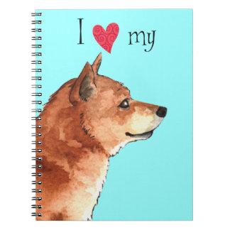Amo mi Shiba Inu Notebook