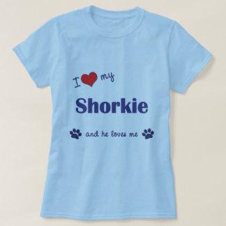 Amo mi Shorkie (el perro masculino) Polera