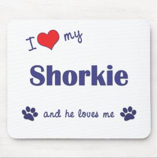 Amo mi Shorkie (el perro masculino) Tapetes De Raton