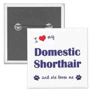 Amo mi Shorthair nacional el gato femenino Pins