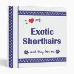 Amo mi Shorthairs exótico (los gatos múltiples)
