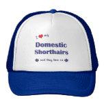 Amo mi Shorthairs nacional (los gatos múltiples) Gorras De Camionero