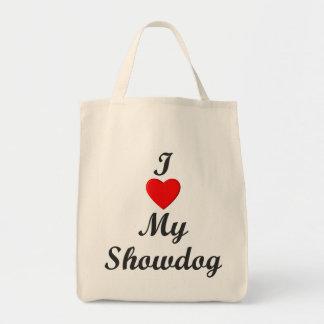 Amo mi Showdog Bolsa Tela Para La Compra