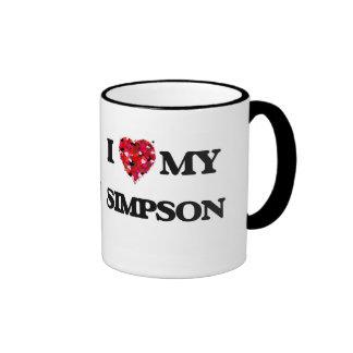 Amo MI Simpson Taza De Dos Colores