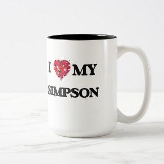 Amo MI Simpson Taza De Dos Tonos