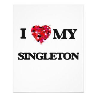 """Amo MI Singleton Folleto 4.5"""" X 5.6"""""""
