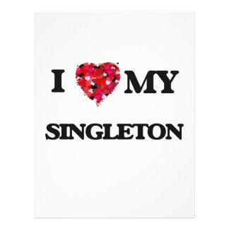 """Amo MI Singleton Folleto 8.5"""" X 11"""""""